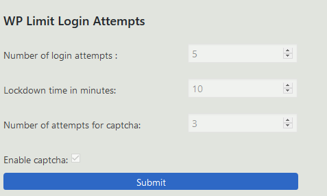 Einstellungen bei den Plugin WP Limit Login Attempts für Hackerschutz