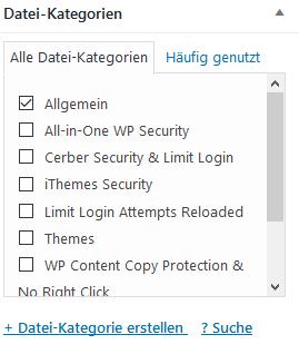 Media Library Assistant Datei-Kategorien beim Bild direkt erstellen