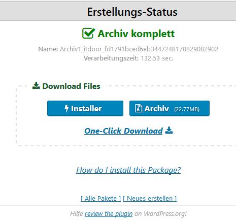 Plugin Duplicator Archiv komplett