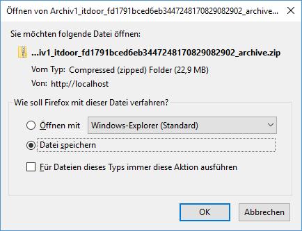 Plugin Duplicator Archiv als ZIP-Datei speichern - Schritt 3 beim Umzug von WordPress