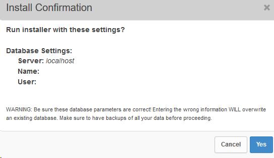 Plugin Duplicator fragt, ob die eingebenen Datenbankdaten korrekt sind Schritt 8