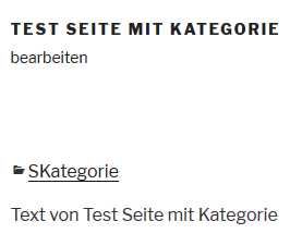 """Plugin """"Category to Pages WUD"""" Kategorie auf Seite"""