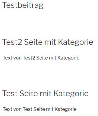 """Plugin """"Category to Pages WUD"""" alle Beiträge und Seiten mit SKategorie"""