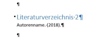 """Word Das Kürzel """"vgl."""" erscheint aber nicht im Literaturverzeichnis"""