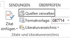 Word Quellen für Zitate verwalten