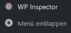 Menüpunkt des Plugins WordPress Inspector
