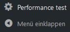 WordPress Plugin PHP/MySQL CPU performance statistics Menüpunkt