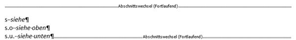 Word Abkürzungsverzeichnis jetzt inklusive der dritten Abkürzung