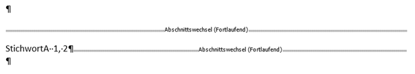 Word Stichwortverzeichnis erstellen mit StichwortA