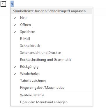 """Word Tabellenverzeichnis Schnellzugriff für den Befehl """"Beschriftung einfügen"""""""
