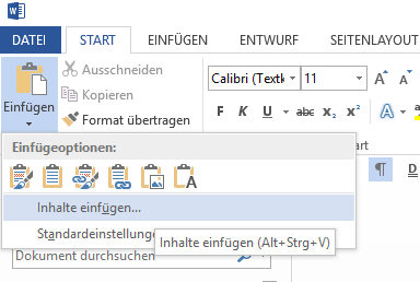 Tabelle in Word soll Excel-Funktionen haben