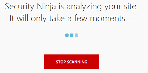 Wordpress Plugin Security Ninja Scanvorgang