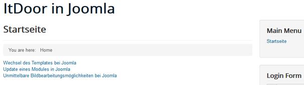 Joomla Benutzerdefiniertes Menü auf Position 2