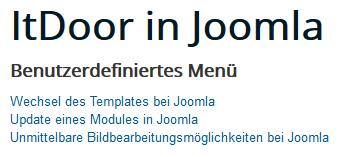 """Joomla Benutzerdefiniertes Menü auf Position """"Banner"""""""