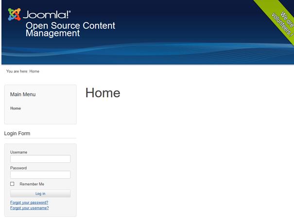 "Website bei Verwendung des Joomla Templates ""Beez3"""