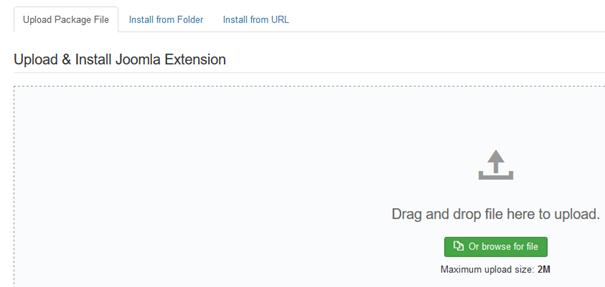 Joomla ZIP-Datei in der das neue Template ist vom PC hochladen