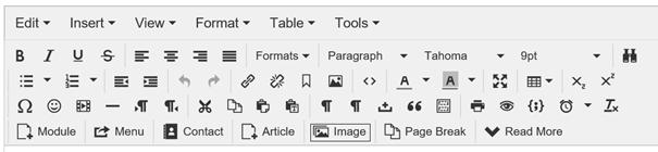 Joomla Artikel Editor Button für Bild einfügen