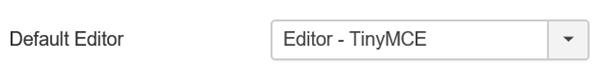 Joomla Standard Editor für Artikel