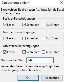 Grundeinstellungen der Datei .htaccess bei ItDoor