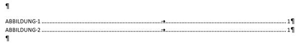 Word Abbildungsverzeichnnis Format Von Vorlage