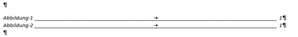Word Abbildungsverzeichnnis Format Elegant