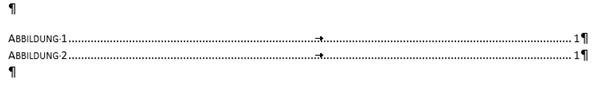 Word Abbildungsverzeichnnis Format Formell