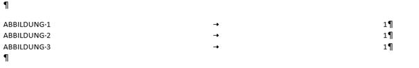 """Word Abbildungsverzeichnis hat jetzt das Format """"Klassisch"""""""