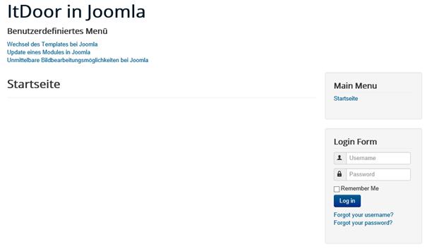 Joomla Login Bereich platzieren und gestalten