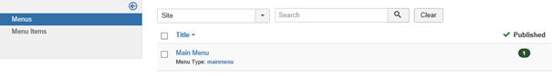 Joomla Die augenblickliche Menüstruktur mit 1 Menü