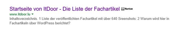"""Zur Zeit die Startseite von ItDoor bei Bing """"site:www.itdoor.lu"""""""