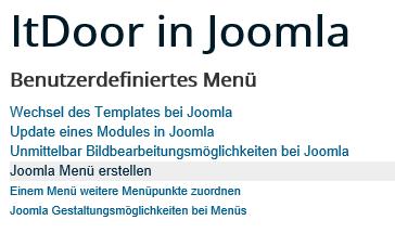 Joomla Menü 2 Menüpunkte auf der zweiten Ebene