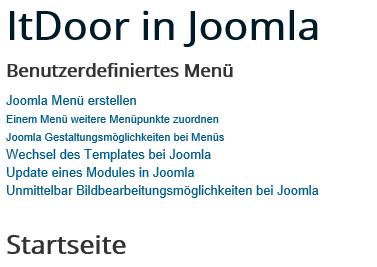 Joomla Menüpunkte der 2ten Ebene sind nach oben gewandert