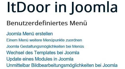 """Joomal Menü 2te Ebene erscheint, da auf """"Joomla Menü erstellen"""" geklickt"""