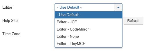 Joomla User Auswahl Editor