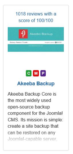 Joomla Akeeba ist Komponente, Plugin und Modul zugleich