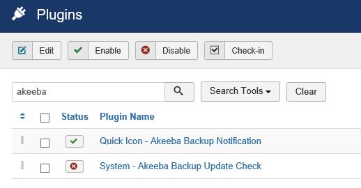 Joomla Plugin Übersicht 2 Module von Akeeba