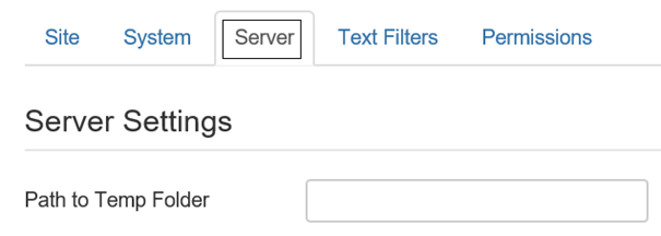 Temporäres Verzeichnis für Joomla bei Global Configuration