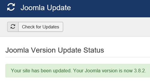 Joomla Update ist beendet