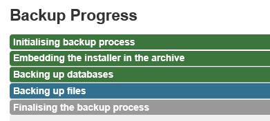 Joomla Vor dem Update gibt es erstmal ein Backup