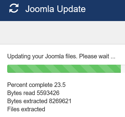 Joomla Update nach dem Backup