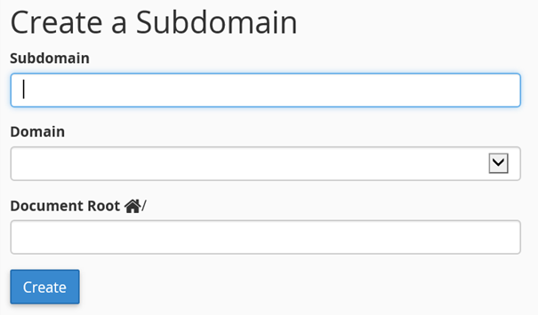 Subdomain in cPanel anlegen