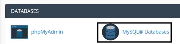 cPanel Weg zur Erstellung einer neuen Datenbank