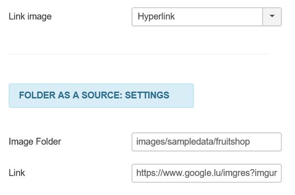Joomla Slider Zusammenhang zwischen Link Image und Link