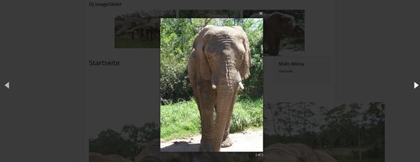 Joomla Slider Open Image in magnific/slimbox popup