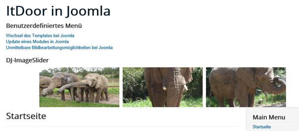 Joomla Slider mit Vertical Image centring