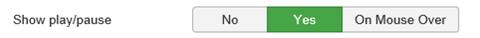 Joomla Slider Auswahlmöglichkeiten bei Show play/pause