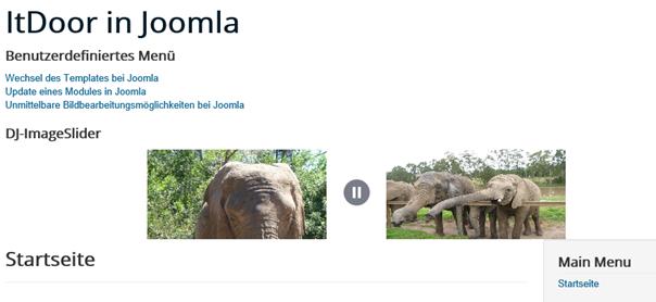 Joomla Slider mit Stoppzeichen