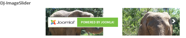 Slider mit Joomla Werbung als Previous Button