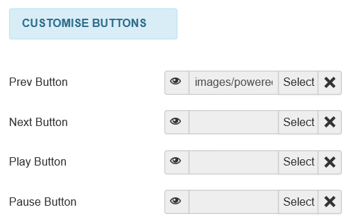 Joomla Slider Previous Button mit der URL des Bildes