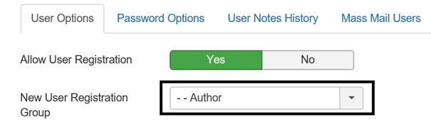 Joomla Zuordnung von registrierten Besuchern zu einer Benutzergruppe